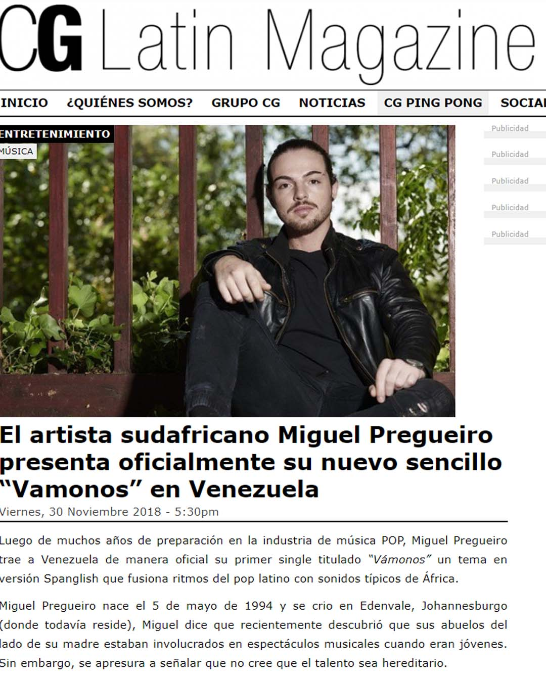 CG MAGAZINE MIGUEL PREGUEIRO