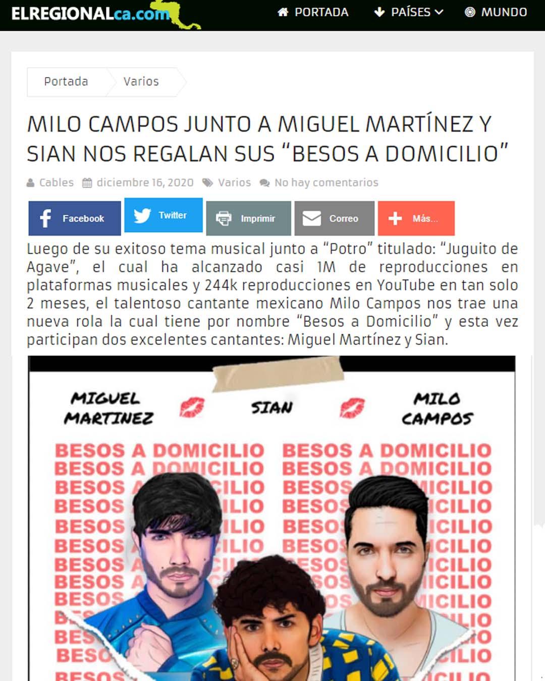 PRENSA EL REGIONAL MILO