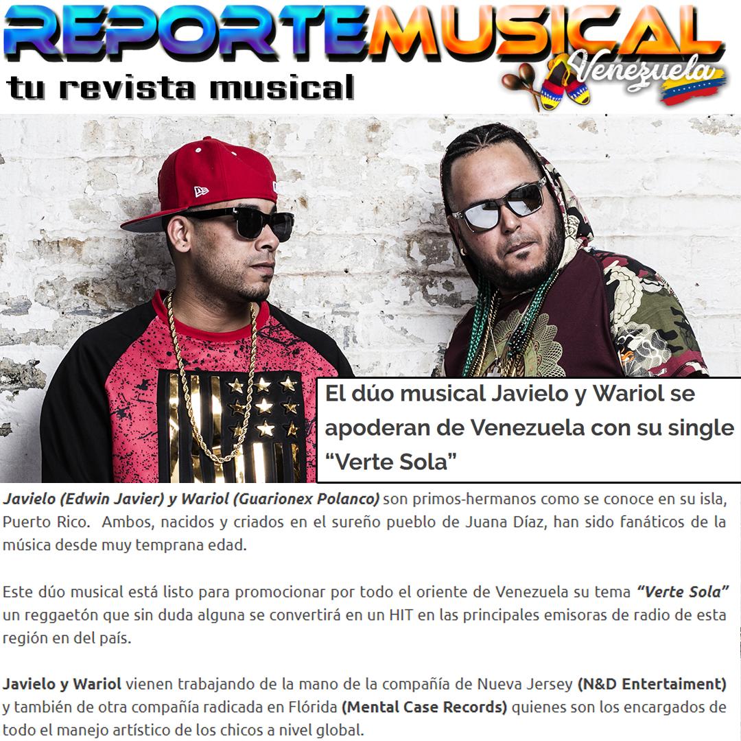 REPORTE MUSICAL VENEZUELA